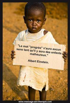 pour les enfants du monde et que cesse la misère!