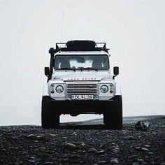 Land Rover Defender 90 Td4 brilliant white. Still yet to scratch the itch that is Iceland...