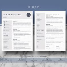 professional modern resume template for word james 100 editable instant - Microsoft Word Resume Template For Mac