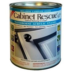 For painting formica/laminate cabinets  CABINET RESCUE 1-Qt. Melamine Laminate Finish Paint