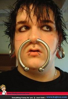 looking at cute little nose rings & this guy popped up. first off, OUCH & second..... well, I don't even have a second...