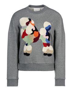 Multicolor Droppedshoulder Poodle Sweatshirt