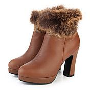 Leer Chunky Heel Platform Fashion Enkellaars