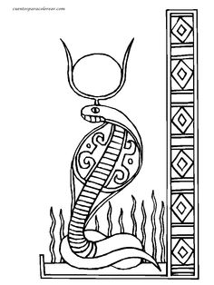 wadjet a cobra head figure of ancient egypt paharoh coloring page wadjet a cobra head figure of ancient egypt paharoh coloring page - Ancient Egypt Mummy Coloring Pages