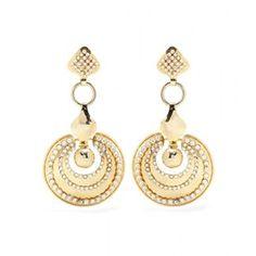 La DoubleJ mytheresa.com Exclusive Embellished Gold-Tone Earrings by Ugo Correani for Gianni Versace style=