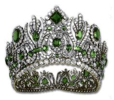 Diadem from Empress Marie-Louise's Emerald Parure