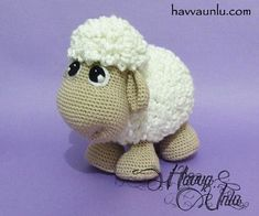 PATTERN Sheep Amigurumi Crochet by HavvaDesigns on Etsy Informations About Cute Sheep- HavvaDesigns Art Au Crochet, Easter Crochet, Cute Crochet, Crochet Crafts, Crochet Projects, Knit Crochet, Crochet Patterns Amigurumi, Crochet Dolls, Knitting Patterns