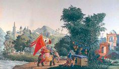 Hindoustan, Cie des Indes. Lorient Vintage Wallpapers, Brittany, Tiles, Indian, Painting, Art, Room Tiles, Art Background, Tile
