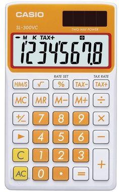 Casio - Solar Wallet Calculator with 8-Digit Display (Orange) Case Pack 2