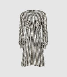 Reiss Edna - Check Printed Fit And Flare Dress in Multi, Womens, Size 16 Day Dresses, Dresses For Work, Reiss Dresses, Iconic Dresses, Check Printing, A Line Skirts, Flare Dress, Dress Collection, Fit And Flare