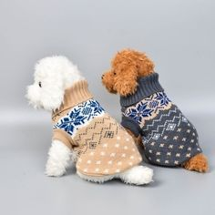 15 Colors Christmas Winter Dog Coat Clothes Warm Soft knitting Pet Dog Vest Sweater For Small Medium Dogs Classic Pattern Knit Dog Sweater, Dog Sweaters, Warm Sweaters, Hello In Languages, Dog Seat Belt, Dog Winter Coat, Pet Dogs, Pets, Dog Vest