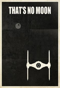 "Star Wars Imperial Tie Fighter ""That's No Moon"" 13x19 Poster Print"
