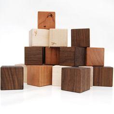 Wooden blocks - wooden toy baby toy building blocks 24 piece set. $28.00, via Etsy.