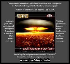 EYE Australian Alternative Dark Synth Punk Electro Industrial Rock Digital Hard Core DHC Electronica Political Protest Aussie Alt Music Bands Sydney Melbourne Brisbane Newcastle Wollongong Gold Central Coast Perth Canberra Adelaide Wollongong Geelong