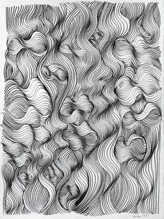 """Saatchi Art Artist Ken Resen; Drawing, """"Turbulence"""" #art"""