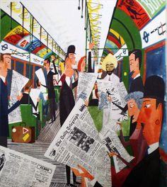 "An illustration from ""This Is London"" by Miroslav Sasek.  Wonderful."