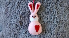 Felt Bunny with Hearts / Valentine Gift / Christmas by MyCraft2You
