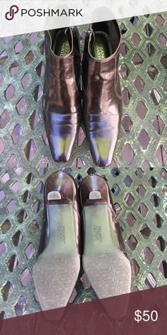 NWOT burgundy booties Never worn beautiful booties. Franco Sarto Shoes Ankle Boots & Booties