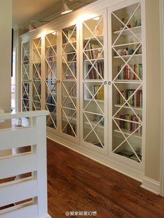 nice corridor, nice book shelf