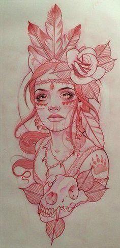 Tattoos And Body Art tattoo stencils Art Drawings Sketches, Tattoo Sketches, Cool Drawings, Tattoo Drawings, Body Art Tattoos, Tattoo Ink, Native Drawings, Rose Drawing Tattoo, Female Tattoos