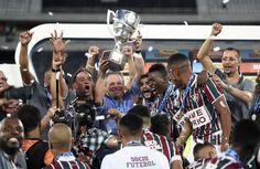Abel Braga e jogadores do Fluminense comemoram título da Taça Guanabara (Foto: André Durão)