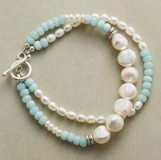 Pulsera doble con perlas