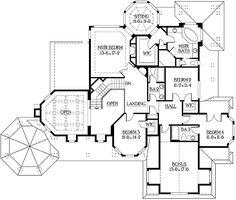 House Designs Blueprints On Pinterest Square Feet Floor