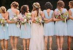 Bride & Bridesmaids | Danielle Capito Photography | From: Blog.TheKnot.com