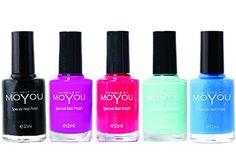 MoYou Nails Bundle of 5 Stamping Nail Polish: Black, Razzle Dazzle Rose Red Torch, Powder Blue and Light Blue Colours Used to Create Beautiful Nail Art Designs Sourced Directly from the Manufacturer MoYou Nails http://www.amazon.com/dp/B00ZYK3274/ref=cm_sw_r_pi_dp_kw-uwb05FP8AC
