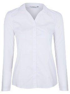 Girls School Long Sleeve Stretch Shirt – White | School | George at ASDA