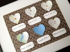 DIY anniversary gift with important places in your life
