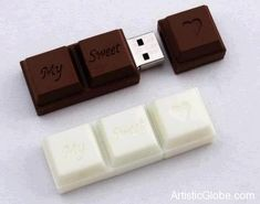 Chocolate squares flash drive