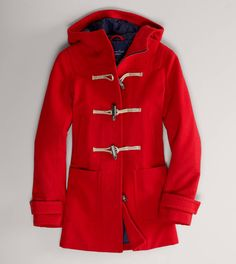 For your girlfriend: AE Hooded Toggle Duffle Coat - wear this and arrive to thnxgiving dinner in style!