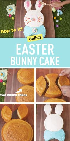 How to make the cutest Easter bunny cake