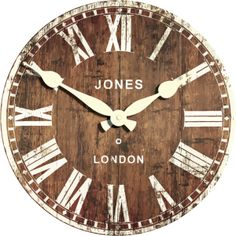 Jones Boxy Red Wall Clock Homebase Red Wall Clock