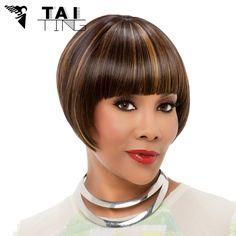 Peruca Brown Pelucas Pelo Natural Hair Ombre Wig Perruque Women Synthetic Wigs Short Wigs For Black Women Pelucas Sinteticas