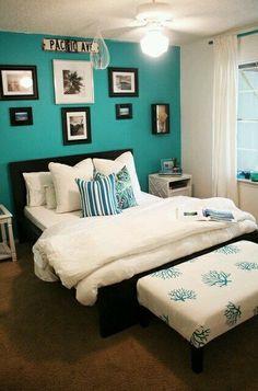 Nice blue and black bedroom