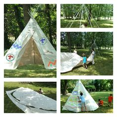I love this diy: Backyard Teepee! I remember as a kid building a blanket fort and having the best of times playing. Bring the family together to create this fun project and let the imagination run ...