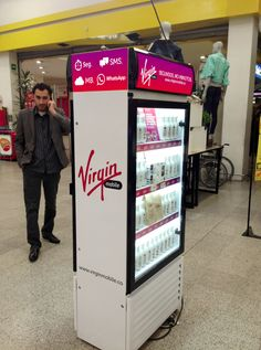 Retail exhibitions. Fridges with product (sim cards, handsets, bundles and antiplans inside)