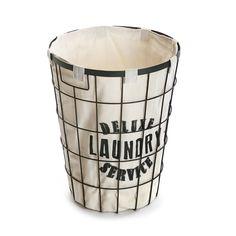 cesto para la ropa de metal con funda cesto ropa casa versa