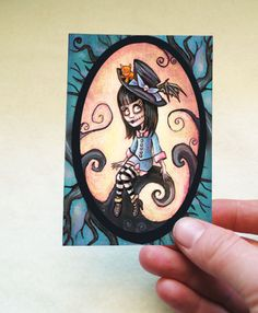 Malice in Wonderland ACEO Print  Gothic Alice Art by DianaLevinArt, $3.00