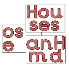Display letters - Houses and Homes