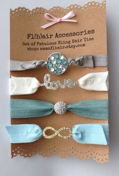 Love this -- I am not big into breacels but I always have a hair tye on my wrist. This would be perfect.  Hair ties