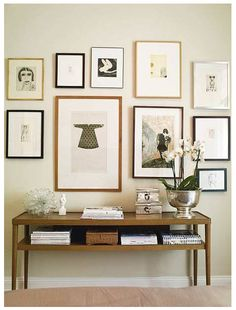 Ikea Stockholm Table and Gallery Wall Inspiration Wand, Interior Inspiration, Design Inspiration, Design Ideas, Creating An Entryway, Home Decoracion, Piece A Vivre, Scandinavian Home, Frames On Wall