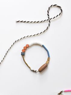 simple color blocking-- lots of our beads would work with this design