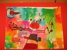 The Elementary Art Room!: Miro Creatures- 1st grade