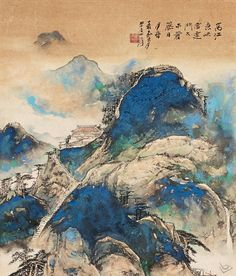 張大千 - 山水作品                            Zhang Daqian (1899-1983) was one of the best-known and most prodigious Chinese artists of the twentieth century.