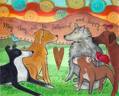 Print : May They All be Balanced and Happy by LoriPortka on Etsy