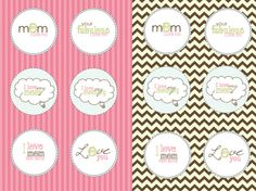 Free Mother's Day Cupcake Toppers!