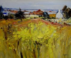 Landscape Painting by Jean Paul Surin French Artist Beautiful Landscape Paintings, Amazing Paintings, Landscape Art, France Landscape, City Art, French Artists, Figure Painting, Painting Inspiration, Abstract Art